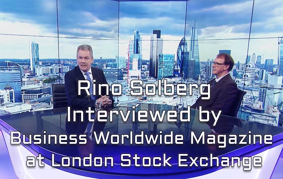 Rino Solberg's interview with Business Worldwide Magazine at London Stock Exchange